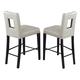 Global Furniture DG072 Bar Stool (Set of 2) in Beige DG072BS-BEI