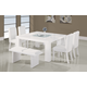 Global Furniture DG020 7-Piece Dining Room Set in White