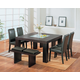 Global Furniture DG020 7-Piece Dining Room Set in Brown