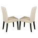 Global Furniture DG020 Dining Chair (Set of 2) in Beige DG020DC-BEI