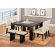 Global Furniture DG020 7-Piece Dining Room Set in Brown/Beige