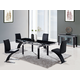 Global Furniture D88 5-Piece Dining Room Set in Black
