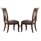 Kincaid Portolone Harp Back Side Chair in Rich Truffle (Set of 2)
