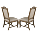 Kincaid Portolone Herringbone Upholstered Side Chair in Rich Truffle (Set of 2)