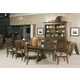 Kincaid Portolone Livorno Rectangular Dining Table Set in Rich Truffle