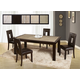 Global Furniture Marble Stone Top D040DT-DG072DC 7-Piece Dining Room Set