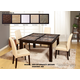 Global Furniture Marble Stone Top D041DT-DG020DC 7-Piece Dining Room Set