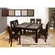 Global Furniture Marble Stone Top D041DT-DG072DC 7-Piece Dining Room Set