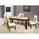 Global Furniture Marble Stone Top D042DT-DG072DC 7-Piece Dining Room Set