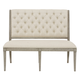 Bernhardt Marquesa Banquette Chair in Gray Cashmere Finish 359-518