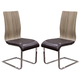 Diamond Sofa Furniture Summit Dining Chair in Ash/Chocolate (Set of 2)