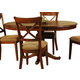 A-America Desoto Oval Pedestal Table in Burnished Sienna