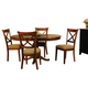 A-America Desoto 5-Piece Oval Pedestal Dining Set in Burnished Sienna