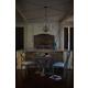 Bernhardt Marquesa 5-Piece Round Dining Room Set in Gray Cashmere