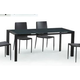 Diamond Sofa Furniture Carbon Extension Dining Table in Grey B179-70