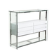 Diamond Sofa Furniture Buffet in Gloss White 11017-CU01B