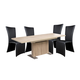 Diamond Sofa Furniture 5-Piece Icon Extension Dining Set