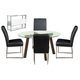 Diamond Sofa Furniture 6-Piece Round Dining Set 11041-CH01/14030-DT02