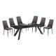 Diamond Sofa Furniture Matrix 7-Piece Dining Set