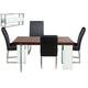 Diamond Sofa Furniture 5-Piece 0776 Rectangular Dining Set in Java