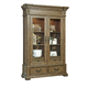 Pulaski Stratton China Cabinet in Aged Honey