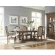 Pulaski Stratton 7-Piece Rectangular Trestle Dining Set in Aged Honey