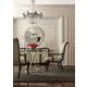 Bernhardt Miramont 5-Piece Round Dining Room Set in Argento Finish