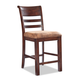 Intercon Furniture Bench Creek Upholstered Ladderback Bar Stool in Rustic Pine (Set of 2)