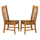 Intercon Furniture Cambridge Slat Back Side Chair (Set of 2) in Rustic