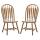Intercon Furniture Classic Oak Detailed Arrow Back Side Chair (Set of 2) in Burnished Rustic