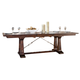 Intercon Furniture Hayden Trestle Dining Table in Rough Sawn/ Espresso