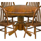 Intercon Furniture Classic Oak Drop Leaf Dining Table in Burnished Rustic