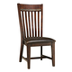Intercon Furniture Hayden Upholstered Slat Back Side Chair in Rough Sawn/ Espresso (Set of 2)