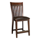 Intercon Furniture Hayden Upholstered Slat Back Bar Stool in Rough Sawn/ Espresso (Set of 2)