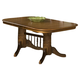 Intercon Furniture Classic Oak Trestle Dining Table in Burnished Rustic
