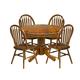 Intercon Furniture Classic Oak 8-Piece Drop Leaf Dining Set w/ Buffet in Burnished Rustic
