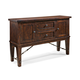 Intercon Furniture Hayden Server with Wine Rack in Rough Sawn/ Espresso