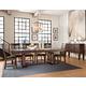 Intercon Furniture Hayden 7-Piece Trestle Dining Set in Rough Sawn/Espresso