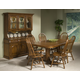 Intercon Furniture Classic Oak 7-Piece Trestle Dining Set in Burnished Rustic