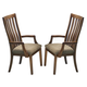 Intercon Furniture Highland Park Slat Back Arm Chair in Rustic (Set of 2)