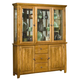 Intercon Furniture Highland Park China Buffet with Hutch in Rustic