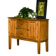 Intercon Furniture Highland Park Server in Rustic