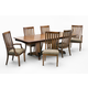 Intercon Furniture Highland Park 7-Piece Trestle Dining Set in Rustic