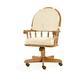 Intercon Furniture Classic Oak Tilt/Swivel Chair w/ Castors (Set of 2) in Chestnut