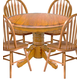 Intercon Furniture Classic Oak Solid Oak Drop Leaf Dining Table in Chestnut