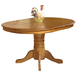 Intercon Furniture Classic Oak Pedestal Dining Table w/ 22