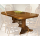 Intercon Furniture Classic Oak Laminated Trestle Dining Table in Chesntut