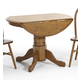 Intercon Furniture Classic Oak Drop Leaf Laminated Dining Table in Chestnut
