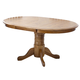 Intercon Furniture Classic Oak Laminated Pedestal Dining Table w/ 22