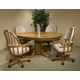 Intercon Furniture Classic Oak 5-Piece Laminated Pedestal Dining Room Set in Chestnut